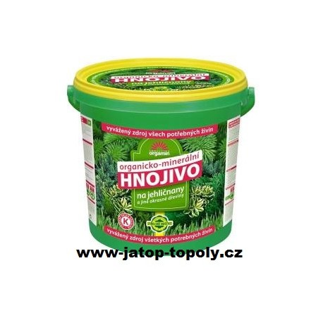 Hnojivo pro jehličnany a okrasné dřeviny 10kg Forestina Orgamin