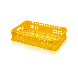 Přepravka na pečivo nízká 600x400x131 mm (potravinářská plastová bedna na pečivo)