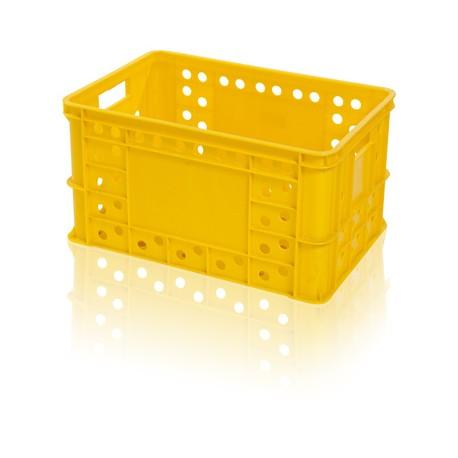 Plastová přepravka na pečivo RPE 600x400x324mm (potravinářská plastová bedna na pečivo)