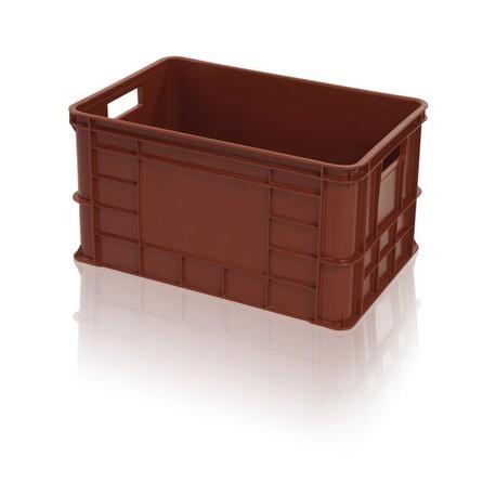 Plastová přepravka na maso 600x400x324mm rovný vrch (potravinářská bedna na maso)