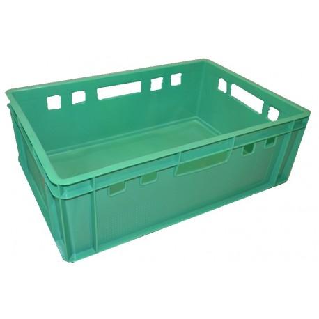 Plastová přepravka na maso E2 600x400x200mm (bedna na maso) zelená