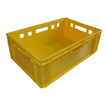 Plastová přepravka na maso E2 600x400x200mm (bedna na maso) žlutá
