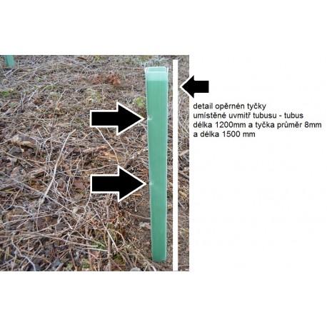 Opěrná tyčka stromů a rostlin průměr 8 mm,délka 1500mm-plná