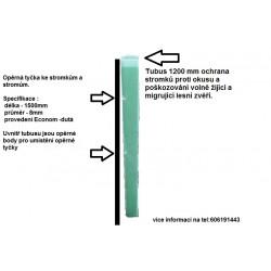 Opěrné sklolaminátové tyčky ke stromkům s průměr 8mm,délka 1500mm provedení Econom dutá