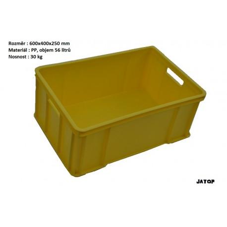 Bedna na maso (Euro plastová přepravka plná) žlutá