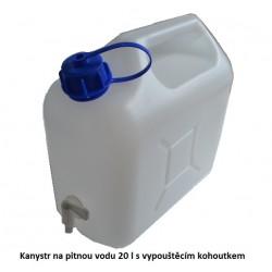 Kanystr na pitnou vodu 20l s vypouštěcím kohoutkem