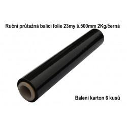 Balící streč fólie černá 6 kusů