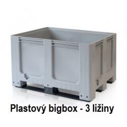 Plastový bigbox plný- 3 ližiny