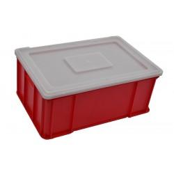 Plastová přepravka červená plus víko