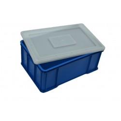 Plastová přepravka modrá plus víko