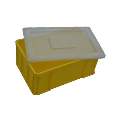 Plastová přepravka žlutá plus víko