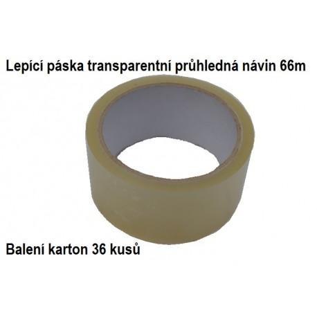 Lepící páska transparentní karton 36 kusů