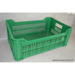 Plastová přepravka na ovoce a zeleninu 15kg - jasně zelená