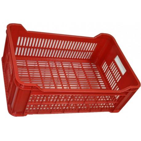 Plastová přepravka na ovoce a zeleninu 15kg-červená